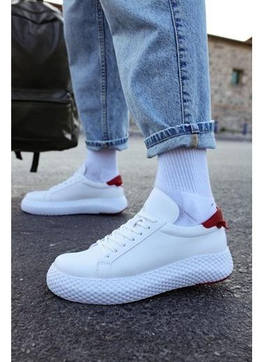Chekich CH107 GBT Erkek Ayakkabı BEYAZ / KIRMIZI Beyaz